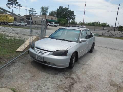 2001 Honda Civic for sale at SCOTT HARRISON MOTOR CO in Houston TX