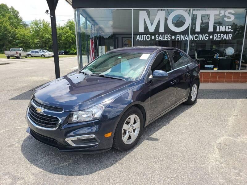 2015 Chevrolet Cruze for sale at Mott's Inc Auto in Live Oak FL