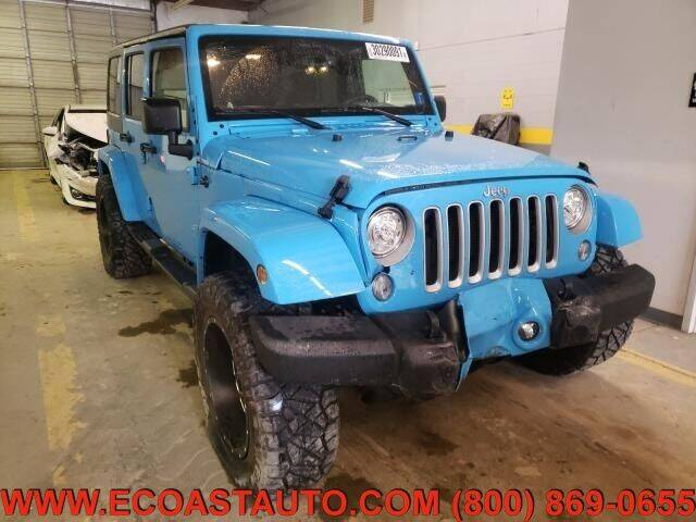 2017 Jeep Wrangler Unlimited for sale at East Coast Auto Source Inc. in Bedford VA