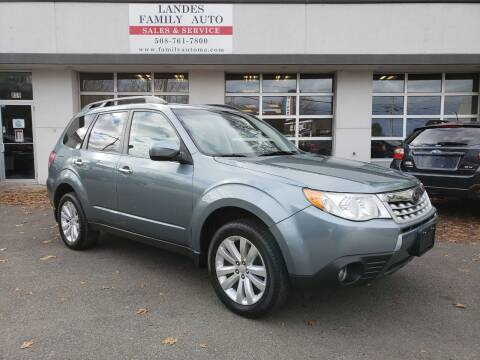 2012 Subaru Forester for sale at Landes Family Auto Sales in Attleboro MA