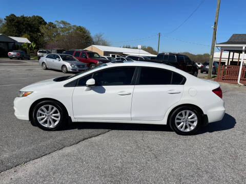 2012 Honda Civic for sale at TAVERN MOTORS in Laurens SC