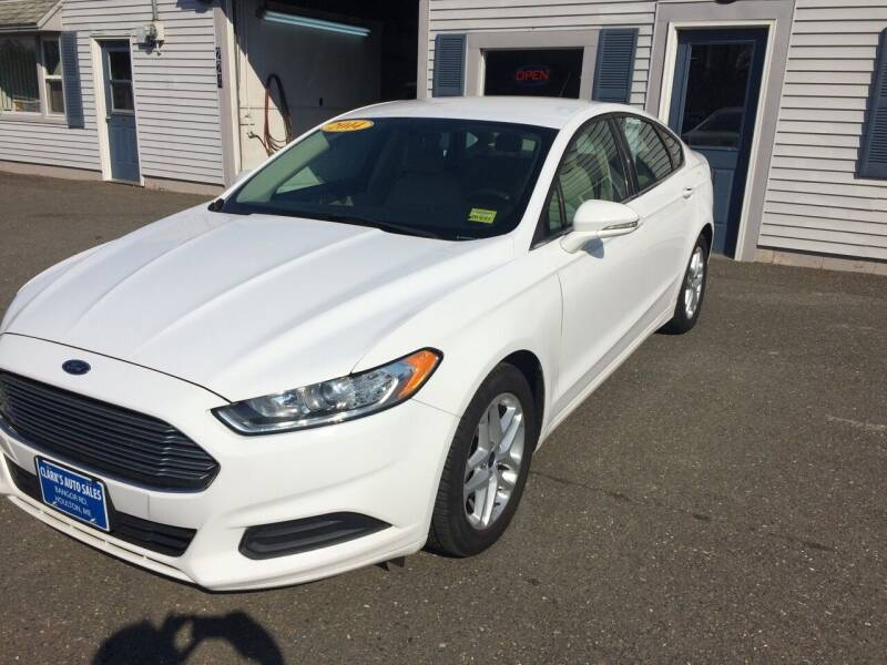 2014 Ford Fusion for sale at CLARKS AUTO SALES INC in Houlton ME