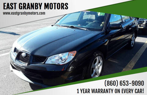 2007 Subaru Impreza for sale at EAST GRANBY MOTORS in East Granby CT