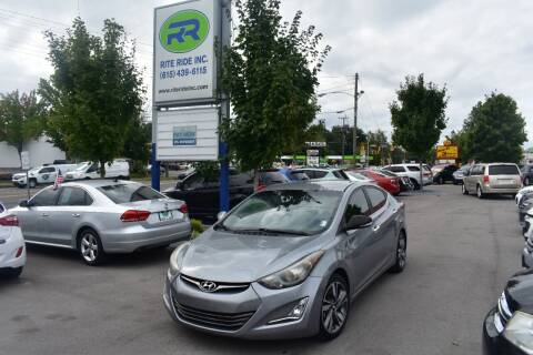 2014 Hyundai Elantra for sale at Rite Ride Inc 2 in Shelbyville TN