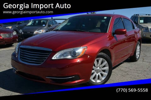 2013 Chrysler 200 for sale at Georgia Import Auto in Alpharetta GA