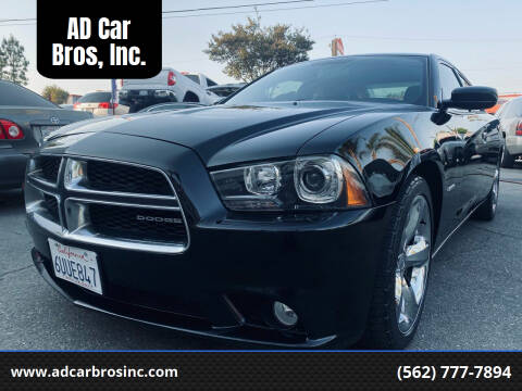 2012 Dodge Charger for sale at AD Car Bros, Inc. in Whittier CA