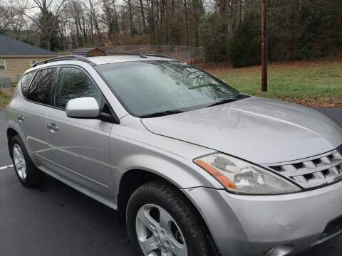 2005 Nissan Murano for sale at Happy Days Auto Sales in Piedmont SC