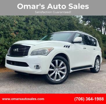 2012 Infiniti QX56 for sale at Omar's Auto Sales in Martinez GA