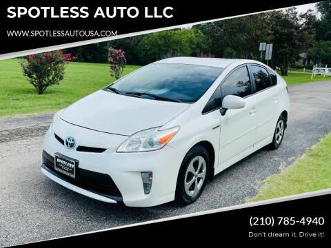 2014 Toyota Prius for sale at SPOTLESS AUTO LLC in San Antonio TX
