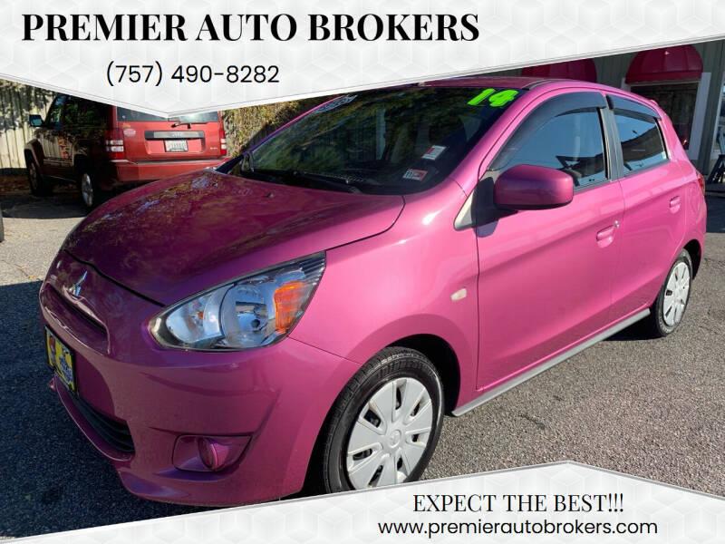 2014 Mitsubishi Mirage for sale at Premier Auto Brokers in Virginia Beach VA