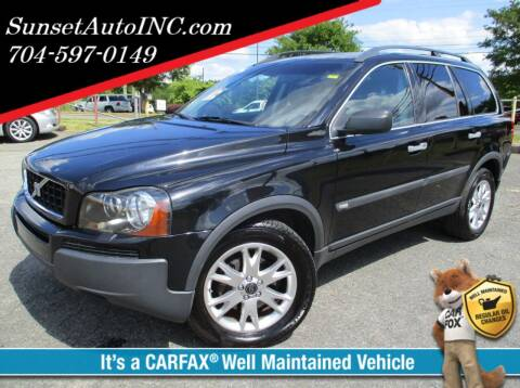 2004 Volvo XC90 for sale at Sunset Auto in Charlotte NC