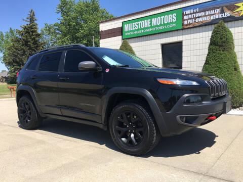 2016 Jeep Cherokee for sale at MILESTONE MOTORS in Chesterfield MI