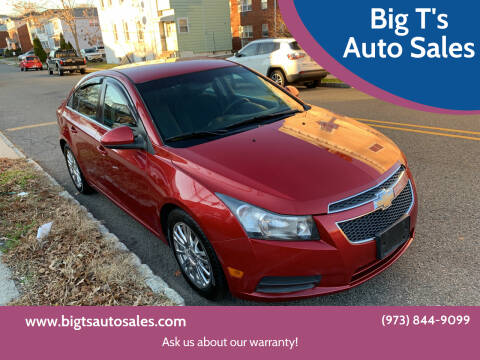2012 Chevrolet Cruze for sale at Big T's Auto Sales in Belleville NJ