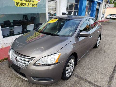 2015 Nissan Sentra for sale at AutoMotion Sales in Franklin OH