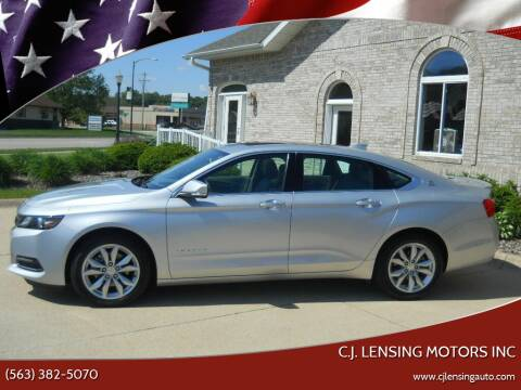 2019 Chevrolet Impala for sale at C.J. Lensing Motors Inc in Decorah IA