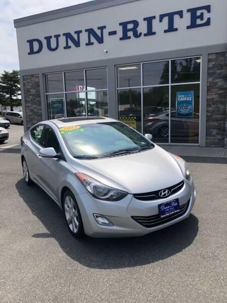 2013 Hyundai Elantra for sale at Dunn-Rite Auto Group in Kilmarnock VA