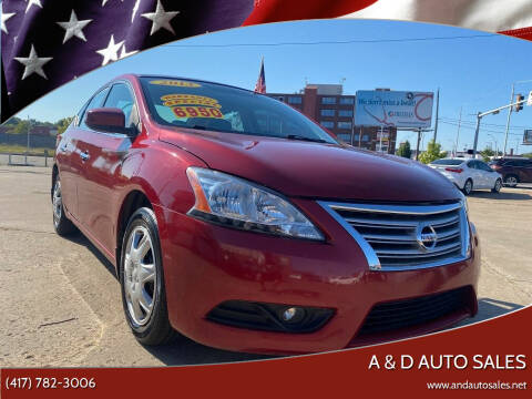2013 Nissan Sentra for sale at A & D Auto Sales in Joplin MO