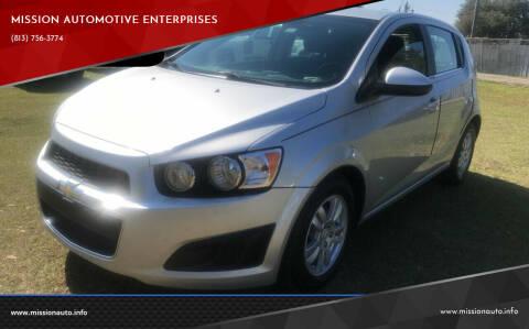 2013 Chevrolet Sonic for sale at MISSION AUTOMOTIVE ENTERPRISES in Plant City FL