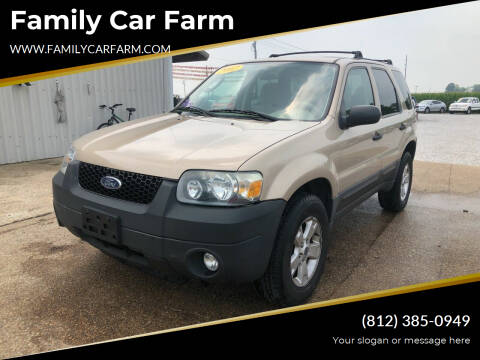 2007 Ford Escape for sale at Family Car Farm in Princeton IN
