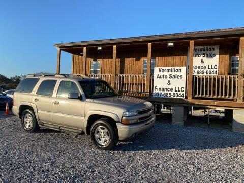 2005 Chevrolet Tahoe for sale at Vermilion Auto Sales & Finance in Erath LA
