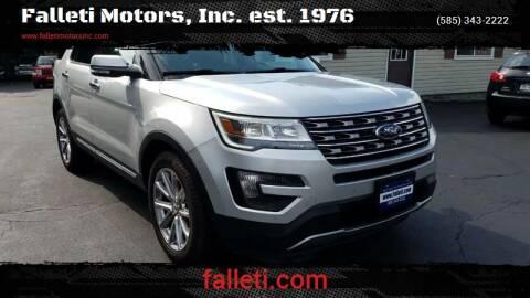 2016 Ford Explorer for sale at Falleti Motors, Inc.  est. 1976 in Batavia NY