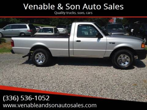 2005 Ford Ranger for sale at Venable & Son Auto Sales in Walnut Cove NC