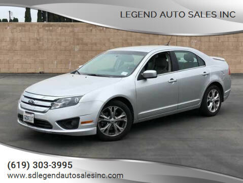 2012 Ford Fusion for sale at Legend Auto Sales Inc in Lemon Grove CA
