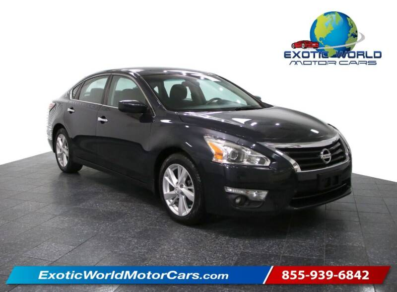 2015 Nissan Altima for sale at Exotic World Motor Cars in Addison TX