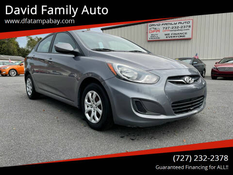 2014 Hyundai Accent for sale at David Family Auto in New Port Richey FL