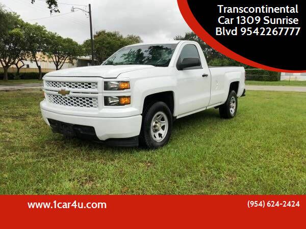 2014 Chevrolet Silverado 1500 for sale at Transcontinental Car in Fort Lauderdale FL