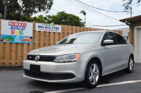 2011 Volkswagen Jetta for sale at ALWAYSSOLD123 INC in Fort Lauderdale FL