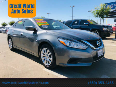 2017 Nissan Altima for sale at Credit World Auto Sales in Fresno CA