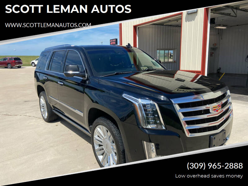 2017 Cadillac Escalade for sale at SCOTT LEMAN AUTOS in Goodfield IL