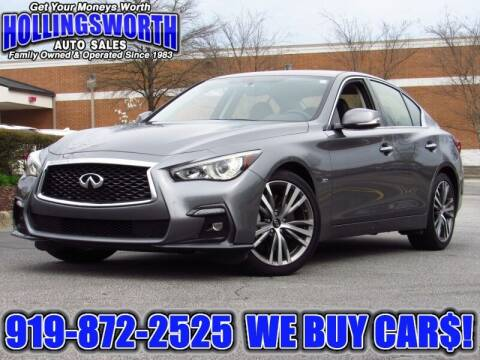 2018 Infiniti Q50 for sale at Hollingsworth Auto Sales in Raleigh NC