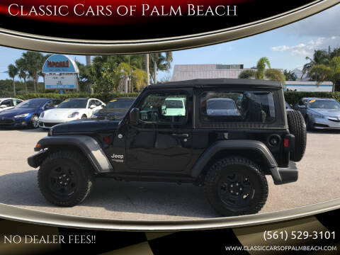 2019 Jeep Wrangler for sale at Classic Cars of Palm Beach in Jupiter FL