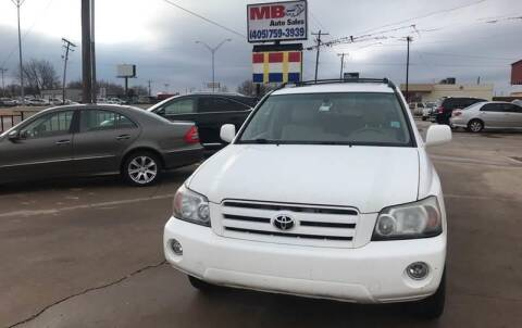 2005 Toyota Highlander for sale at MB Auto Sales in Oklahoma City OK