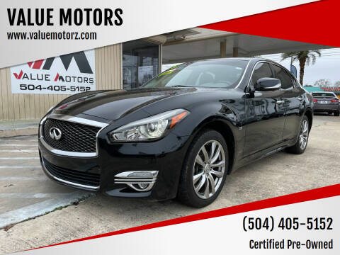 2015 Infiniti Q70 for sale at VALUE MOTORS in Kenner LA