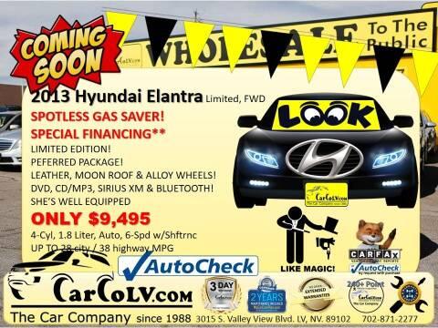 2013 Hyundai Elantra for sale at The Car Company in Las Vegas NV