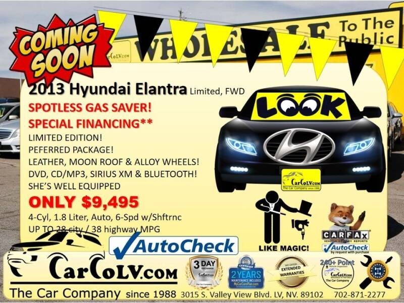 2013 Hyundai Elantra for sale at The Car Company in Las Vegas NV