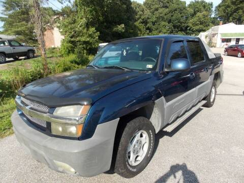 2002 Chevrolet Avalanche for sale at Deer Park Auto Sales Corp in Newport News VA