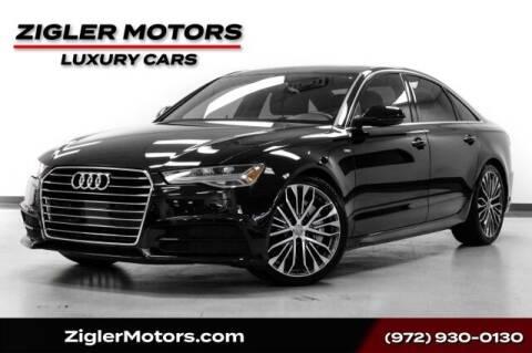 2017 Audi A6 for sale at Zigler Motors in Addison TX