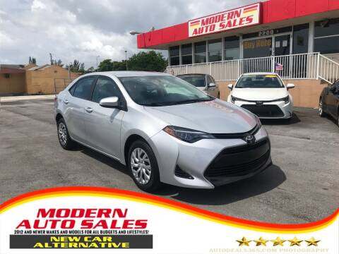 2019 Toyota Corolla for sale at Modern Auto Sales in Hollywood FL