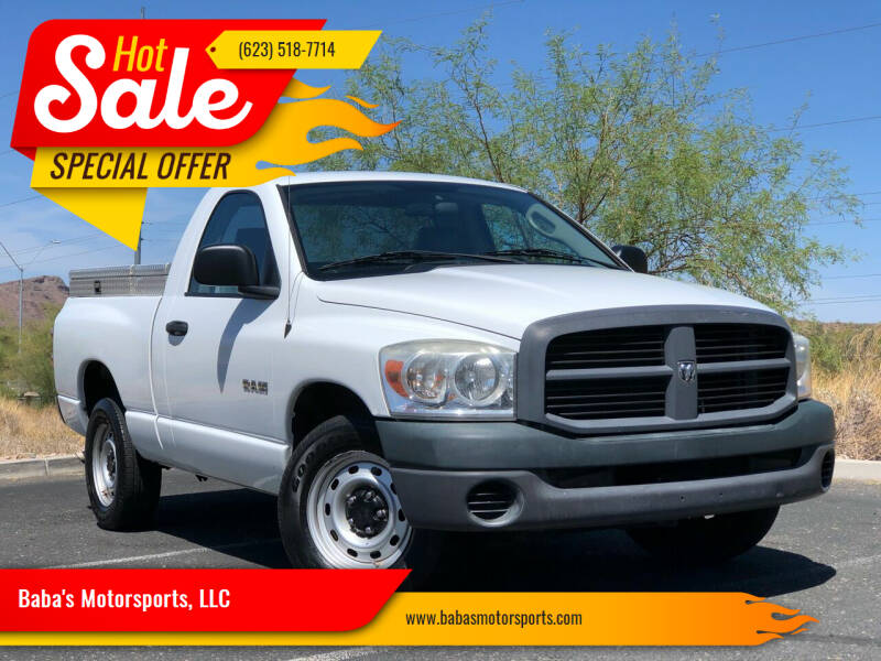 2008 Dodge Ram Pickup 1500 for sale at Baba's Motorsports, LLC in Phoenix AZ
