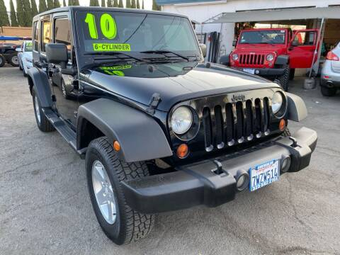 2010 Jeep Wrangler Unlimited for sale at CAR GENERATION CENTER, INC. in Los Angeles CA