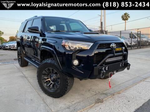 2019 Toyota 4Runner for sale at Loyal Signature Motors Inc. in Van Nuys CA