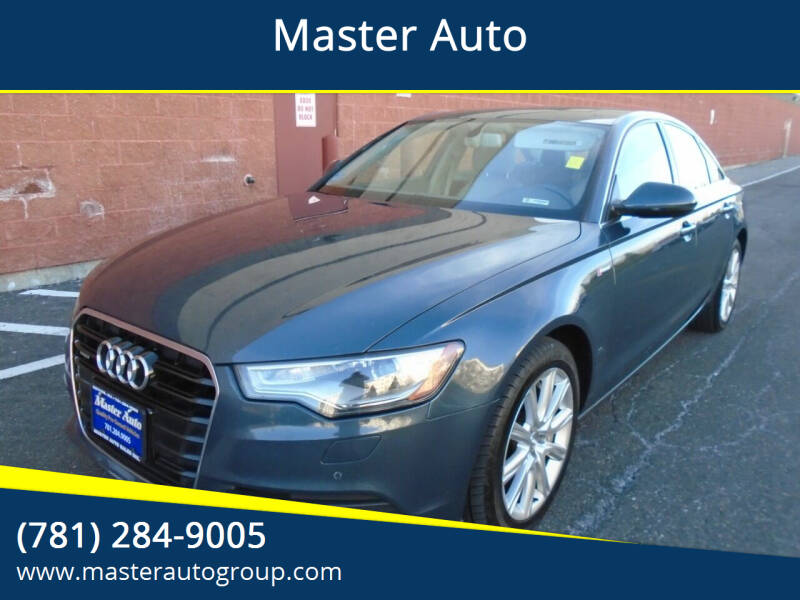 2013 Audi A6 for sale at Master Auto in Revere MA