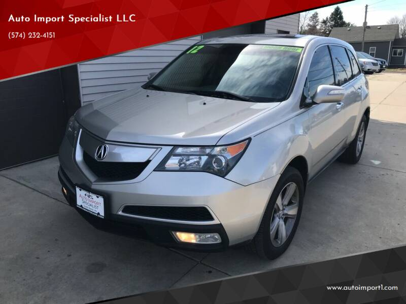 2012 Acura MDX for sale at Auto Import Specialist LLC in South Bend IN