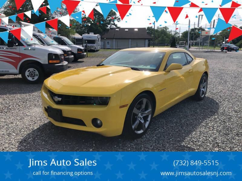 2012 Chevrolet Camaro for sale at Jims Auto Sales in Lakehurst NJ