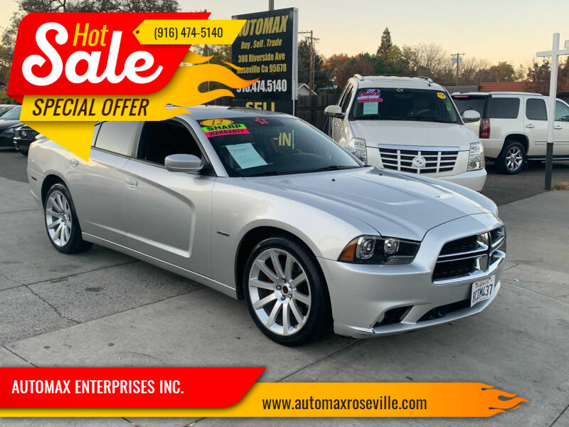 2012 Dodge Charger for sale at AUTOMAX ENTERPRISES INC. in Roseville CA