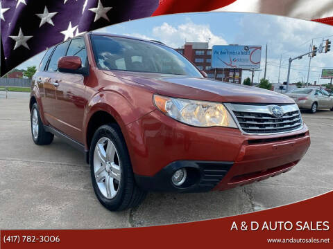 2010 Subaru Forester for sale at A & D Auto Sales in Joplin MO